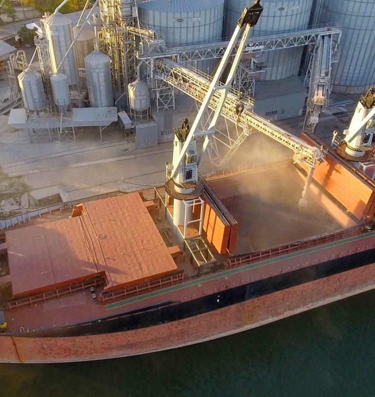 В Одесском морпорту снизились объемы перевалки зерна и масла