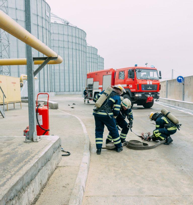 На элеваторе «Зерно-Агро» прошли пожарно-тактические учения