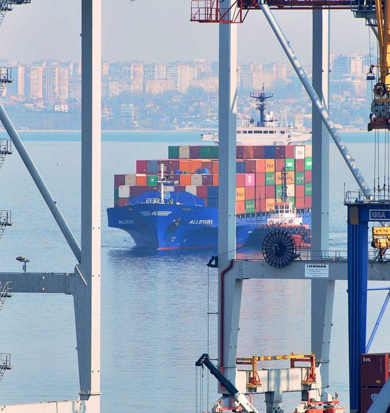 В январе Одесский порт сократил грузооборот на 18%